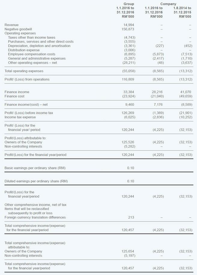 Annual Income Statement